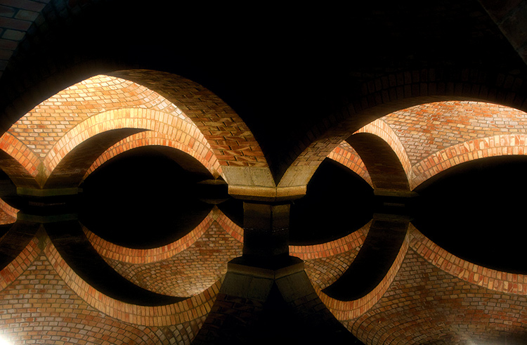 """""""Vaulted ceilings cast a reflection on the water, creating a kaleidoscope effect  that's almost hallucinogenic in look"""
