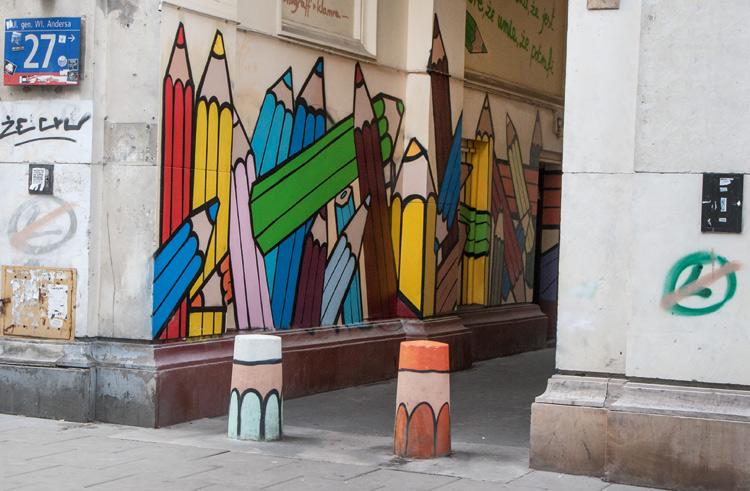 Mural-pencils