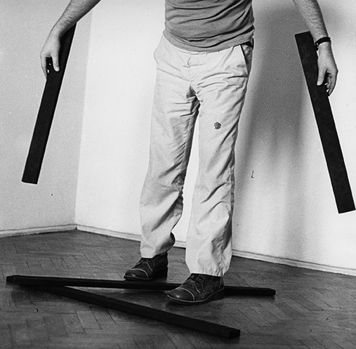 Andrzej Dłużniewski, 22 Figurative Pictures, 1979, photograph on canvas, 92x92cm (courtesy of Fundacja Profile)