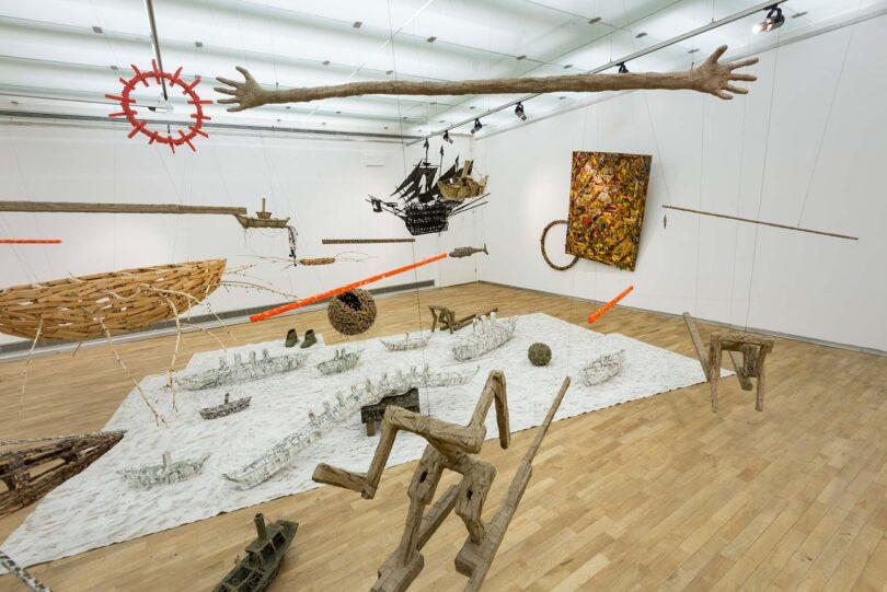 Zbigniew Andrzej Natkaniec, view from the exhibition InstallationsObjects, 2011, objects, Galeria Sztuki Współczesnej w Opolu (courtesy of Leto Gallery)